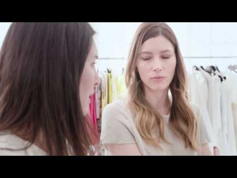 Jessica Biel and Estee Stanley on the Tiffany & Co. Atlas collection