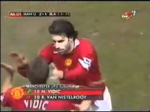 Nemanja Vidić's debut for Manchester United