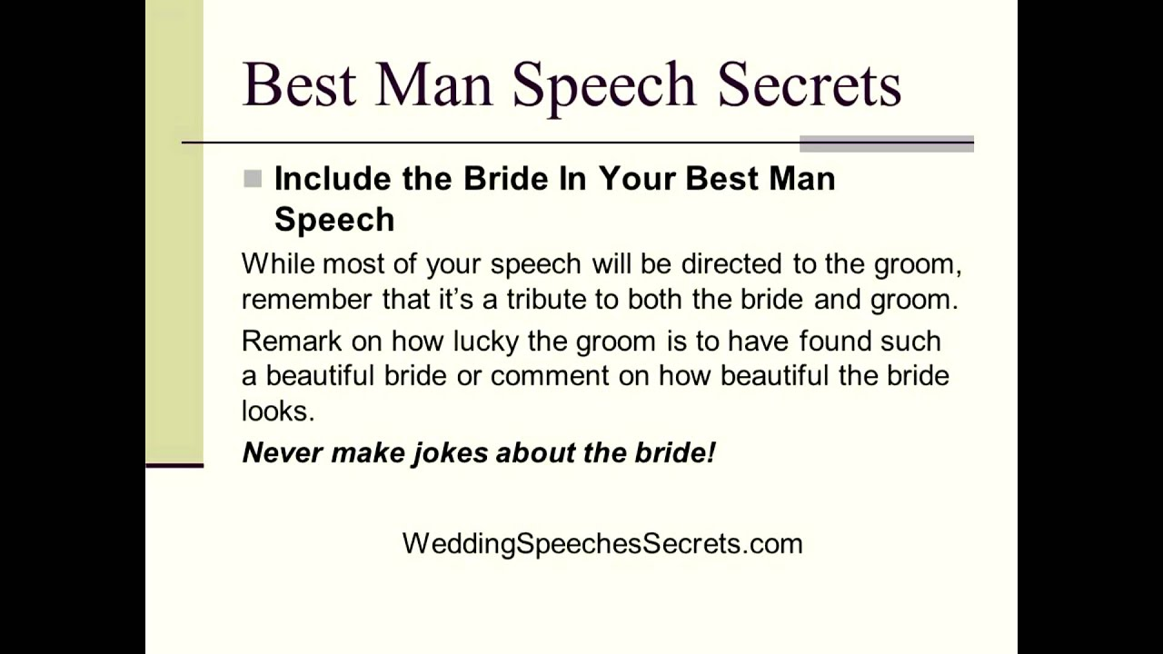 How To Write Your Funny Best Man Speech
