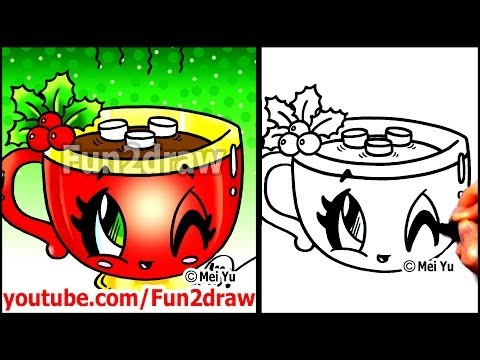 Drinks Drawing ▶ How to Draw Food Drinks