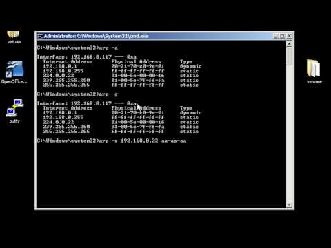 Windows command line networking: arp, getmac