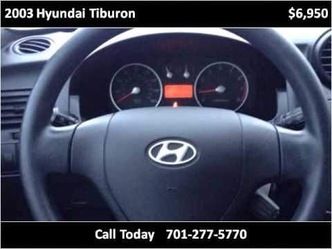 2003 Hyundai Tiburon Used Cars Fargo ND