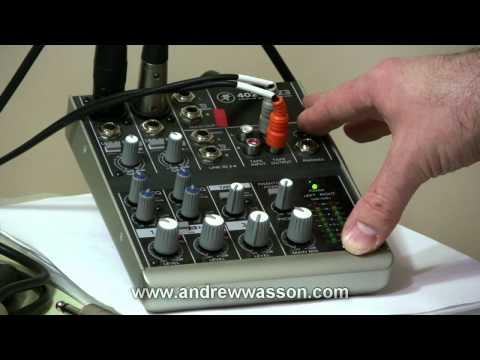 Basic Home Recording Mic & Mixer Set-Up...