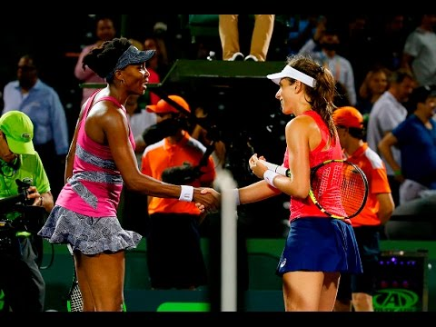 Miami Open Semifinals | Johanna Konta vs Venus Williams | WTA Highlights