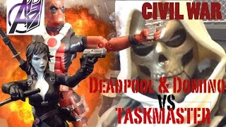 Deadpool Stop Motion- [Deadpool & Domino vs Taskmaster]