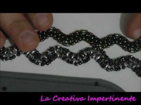 DIY twin beads / superduo bracelet - Tutorial bracciale