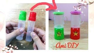 DIY How to Make a Doll Blender / Cách làm máy xay sinh tố đơn giản cho búp bê/ Ami DIY