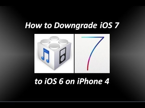How to Downgrade iOS 7 to iOS 6.1.3 on iPhone 4