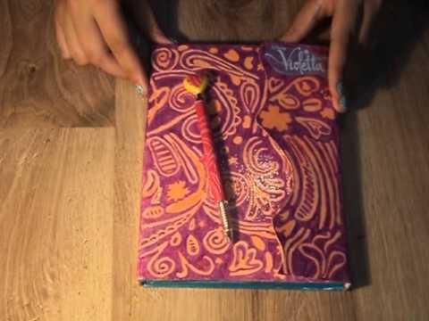 3.Nasz własnoręcznie wykonany pamiętnik w stylu Violetty
