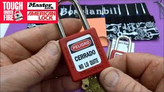 (459) Master Lock Lock Out Tag Out (LOTO) Training Locks