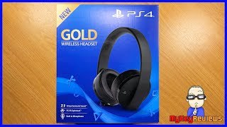 NEW Gold Wireless Headset (PS4/PS4 Pro) - 2018 Model | Unboxing, Set-Up & Review | MyKeyReviews