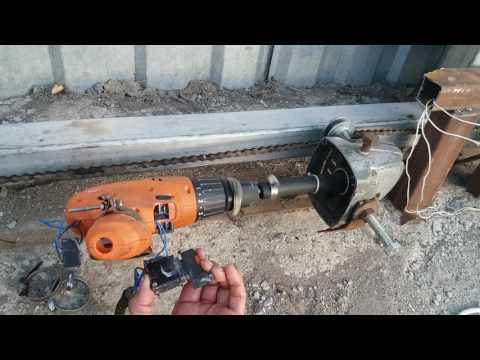 Самодельный электропривод для подъемных ворот 145