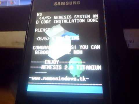 (Tutorial) Installing Nemesis Titanium on Samsung Galaxy Y GT-S5360