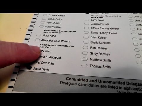 Alex and Dad Vote on Super Tuesday! - Ron Paul 2012
