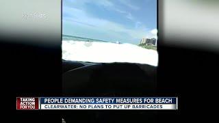 Beach goers call for barricades after drinking man speeds down beach