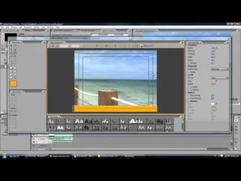 Tutorial Premiere Pro arraste de texto  crawl  cintillo