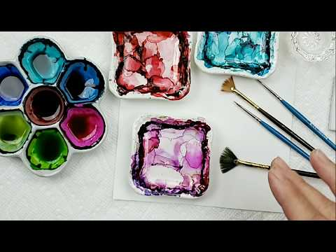 How To Tips, Tricks, and Techniques for Using Brushes with Alcohol Ink