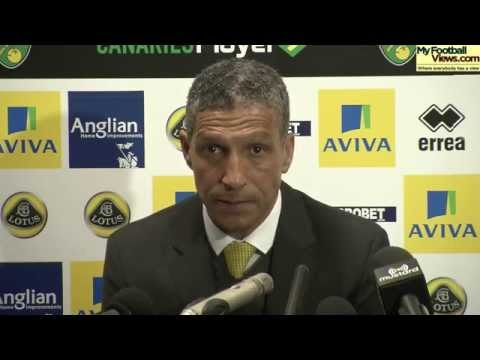 Chris Hughton: Booing from Norwich fans 'disappointing'