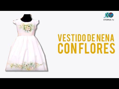 Pintura sobre tela sobre vestido de nena adriana dadamo - Telas de tapicerias para sofas ...