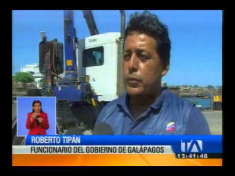 Camión-grúa accidente en Galápagos