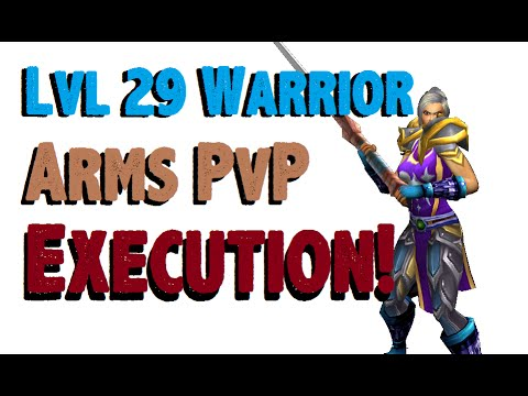 Cathaldis - Level 29 Arms Warrior Twink Pvp - Mop Patch 6.0.3 video