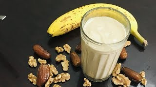 Nutty Smoothie with walnuts, dates and banana