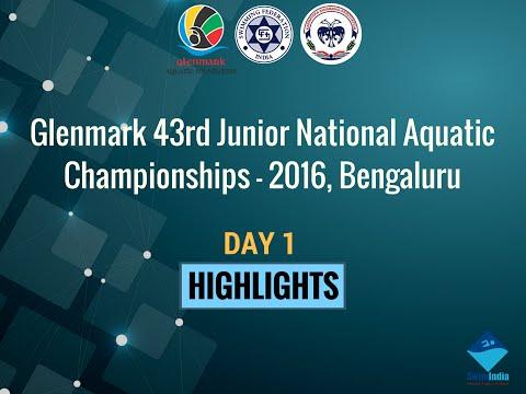 Day 1 Highlights of Glenmark 43rd Junior National Aquatic Championship - 2016, Bengaluru