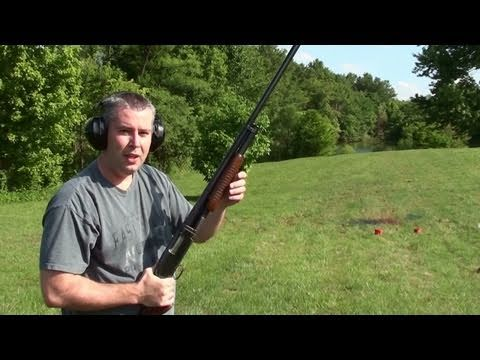1957 Winchester Model 12 Shotgun - Shooting a Variety of Targets