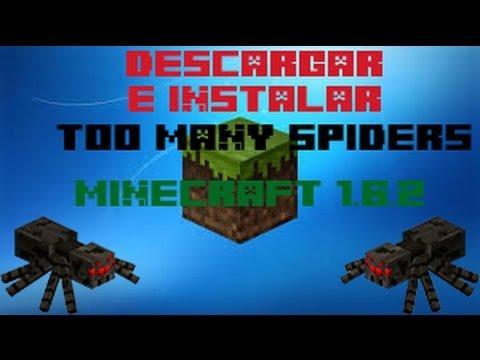 Descargar e instalar TooMany Spiders Mod para minecraft 1.6.2(Español)