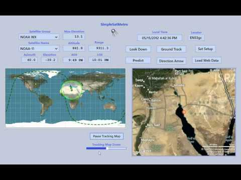 SimpleSatMetro - Satellite Tracking Program - Windows 8
