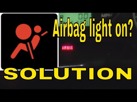 how to reset clear the airbag air bag control module light on subaru wrx sti turn off