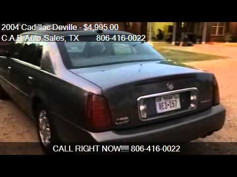 2004 Cadillac Deville Base 4dr Sedan for sale in Lubbock, TX
