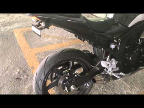 Naza Blade / Hyosung GT250R with GL Racing Muffler short exhaust sound
