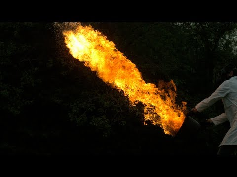 Flame Throwing - The Slow Mo Guys - 2500fps