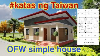 OFW Simple House Plan 9m x 7m with 3 bedroom