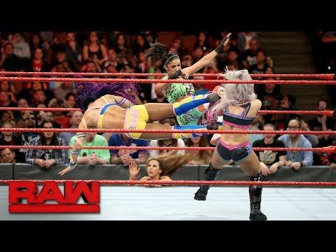 Asuka, Sasha Banks & Bayley vs. Alexa Bliss, Nia Jax & Mickie James: Raw, Feb. 26, 2018