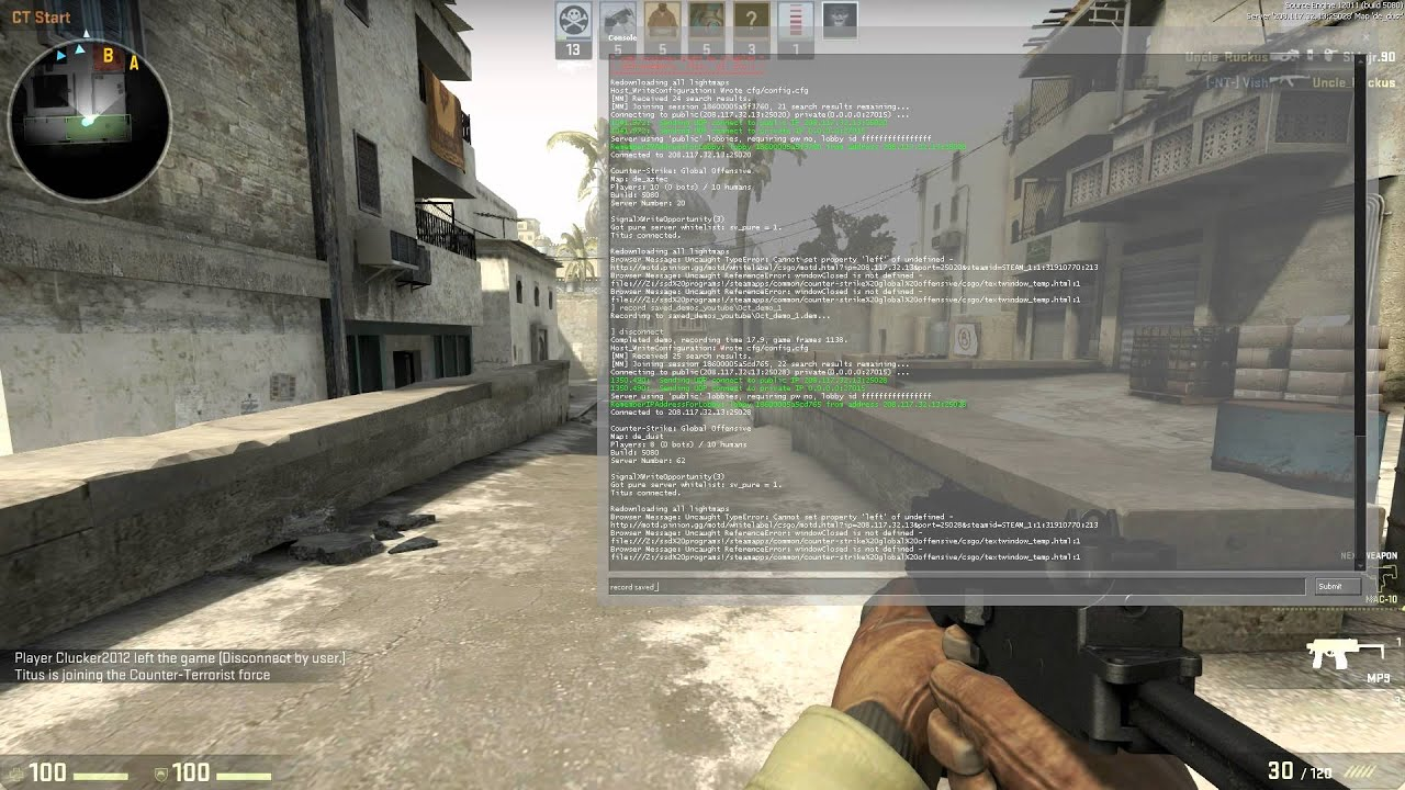 cs go matchmaking demos Demo_listhighlights // list all highlights data for the demo demo_listimportantticks // list all important ticks in the demo demo_pause // pauses demo playback demo_recordcommands  1 // record commands typed at console into dem files demo_resume // resumes demo playback demo_timescale // sets demo replay speed.