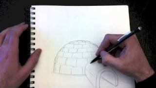 Drawing an igloo with Paolo Morrone