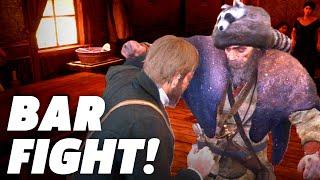 Red Dead Redemption 2 - Drunken Bar Fight Gameplay