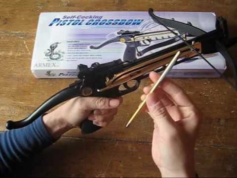 Review of my Cobra 80lb self cocking crossbow pistol
