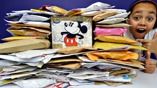 Biggest Surprise Fan Mail Opening Ever! Disney Toys - Shopkins - Candy - Toys For Kids Opening