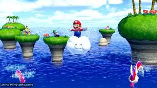 Super Mario Party Minigames (Videos for Babies Cartoons)
