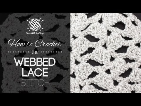 Lacy Crochet Stitches Youtube : How to Crochet the Webbed Lace Stitch - YouTube