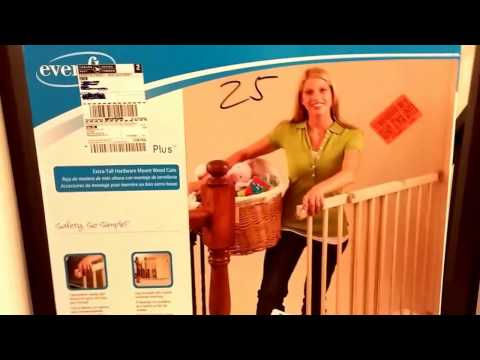 EvenFlo Top of Stairs Plus Baby Gate Review & Installation without drilling