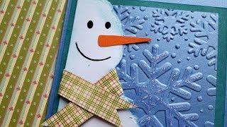 Новогодняя открытка своими руками со снеговичком / The Workshop
