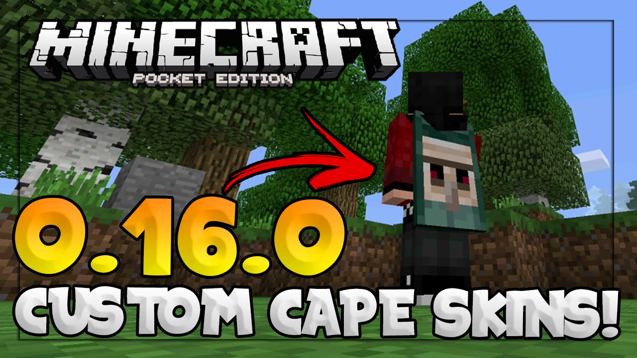 MCPE 0.15.9+ Update - CUSTOM CAPE SKIN TUTORIAL! - Your Custom Skin with Minecon Capes