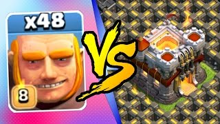Clash Of Clans - NEW MAX LEVEL 8 GIANTS vs TOWN HALL 11! - July 2016 Update Game Play!