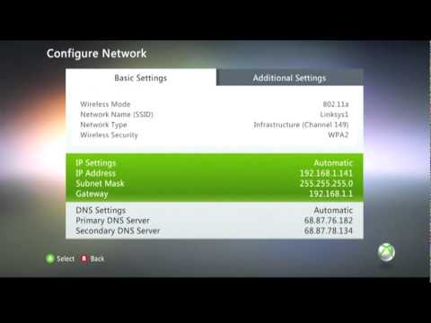 How to find Mac Address on your Xbox 360: TUTORIAL