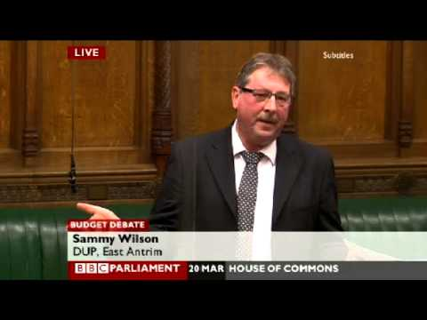 Sammy Wilson Responds to 2013 Budget