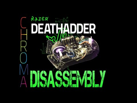 Razer Deathadder Chroma disassembly/dismantle Repair/Fix [Works with Deathadder mices]
